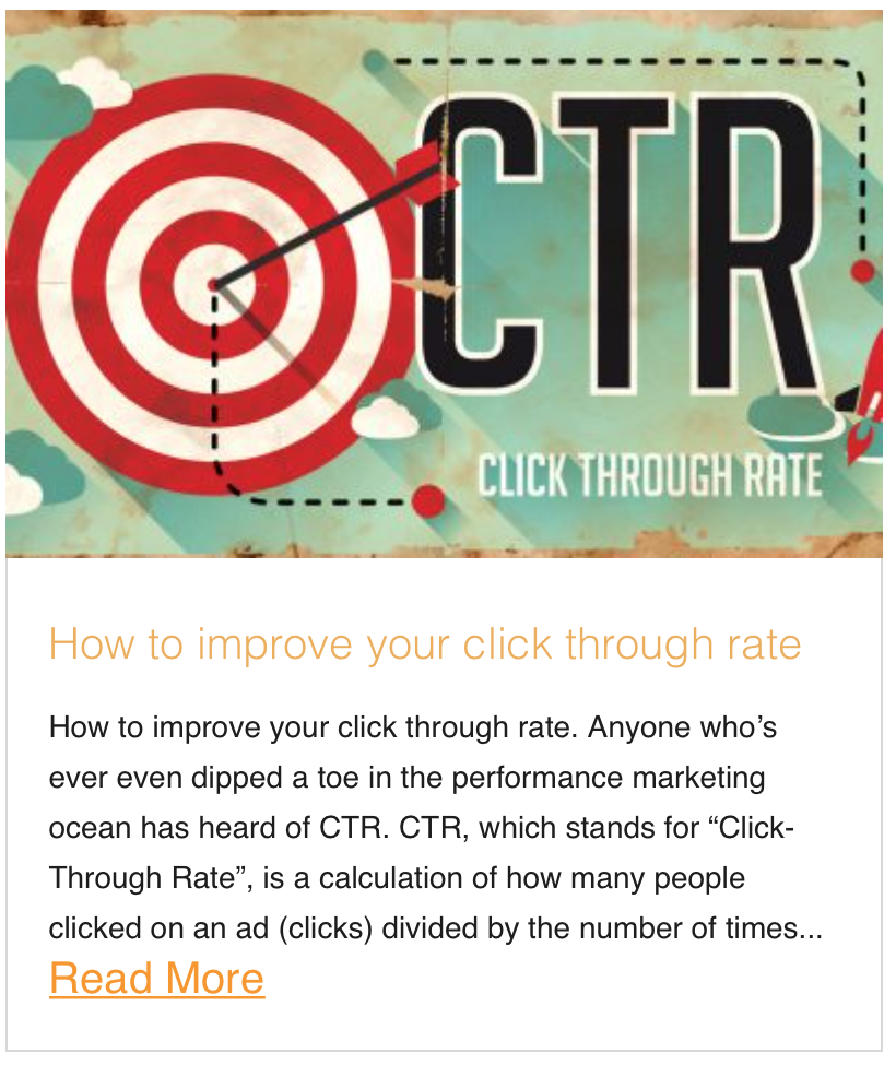 How to improve your click through rate