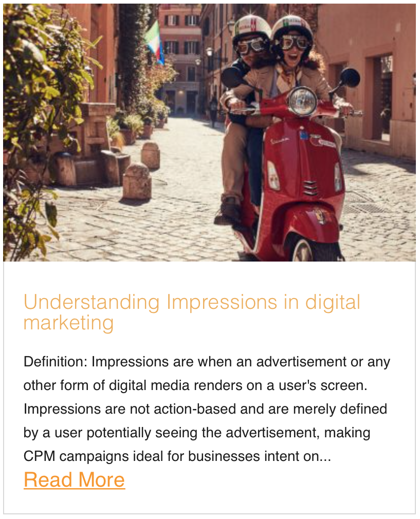Understanding Impressions in digital marketing