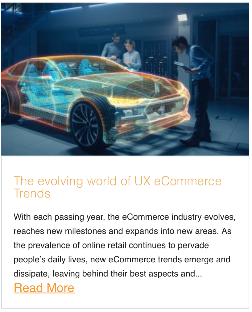 The evolving world of UX eCommerce Trends