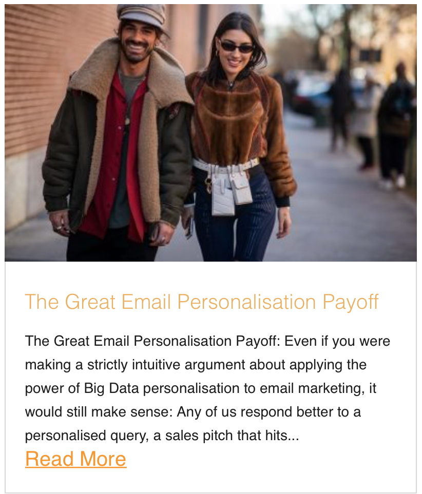 The Great Email Personalisation Payoff