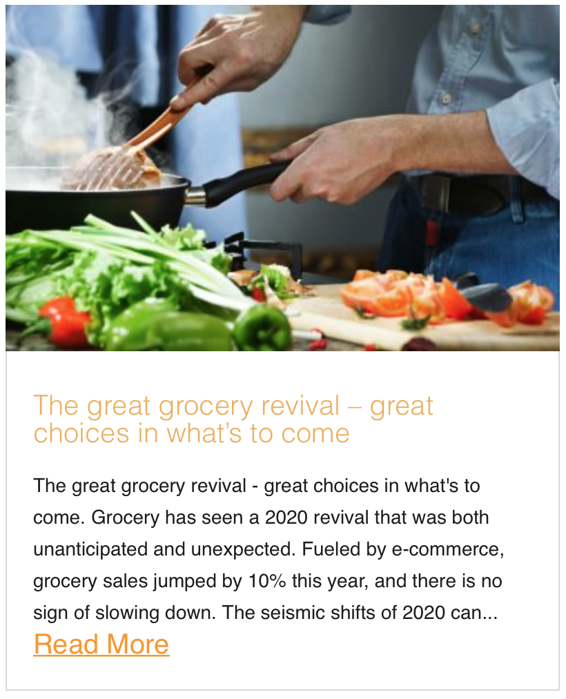 The great grocery revival – great choices in what's to come
