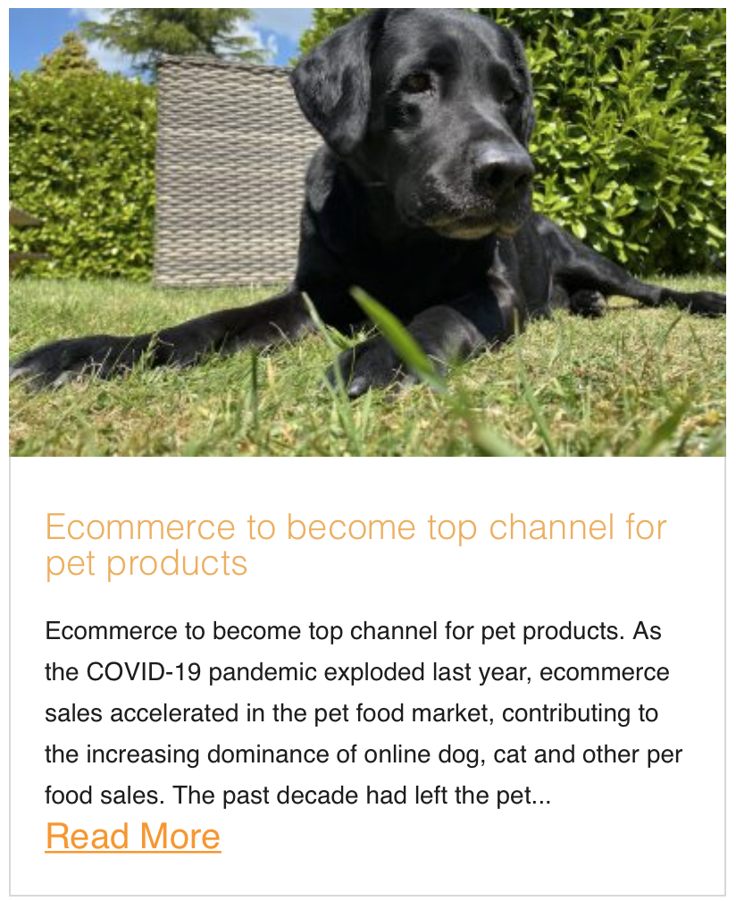 Ecommerce to become top channel for pet products