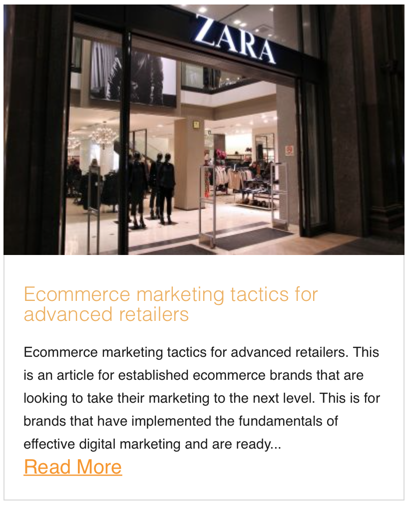 Ecommerce Marketing Tactics for advanced retailers
