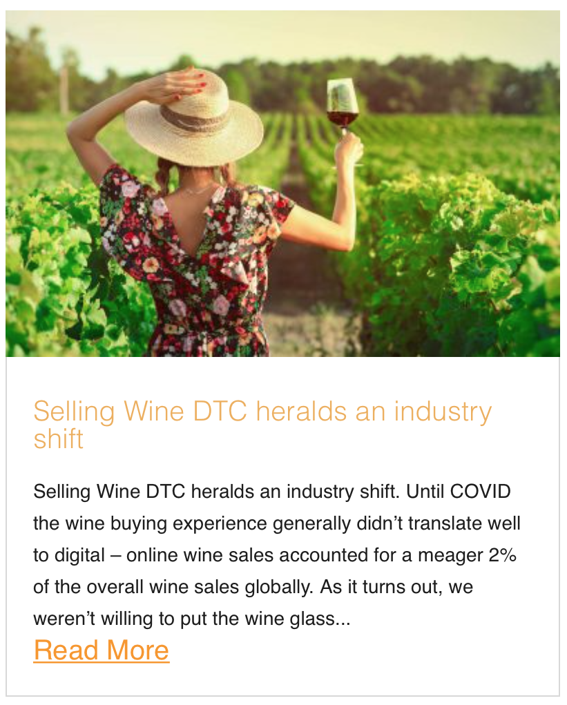 Selling Wine DTC heralds an industry shift