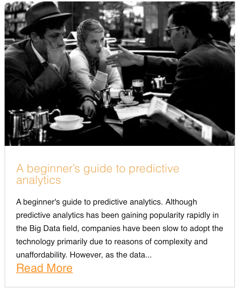 A beginner's guide to predictive analytics