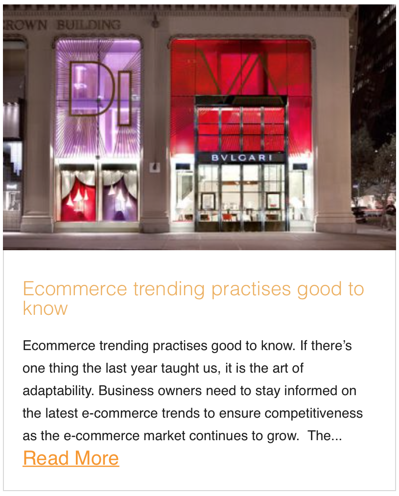 Ecommerce trending practises good to know