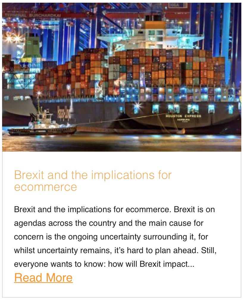 Brexit and the implications for ecommerce
