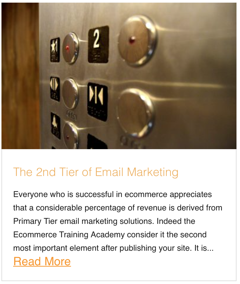 The 2nd Tier of Email Marketing