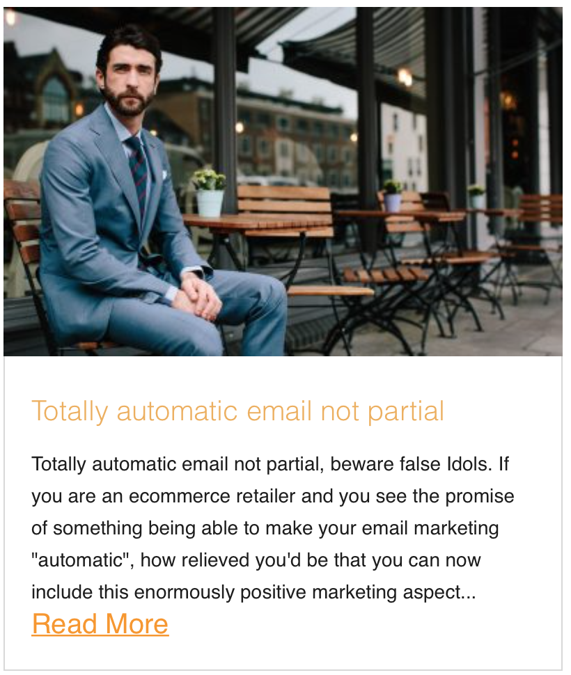 Totally automatic email not partial