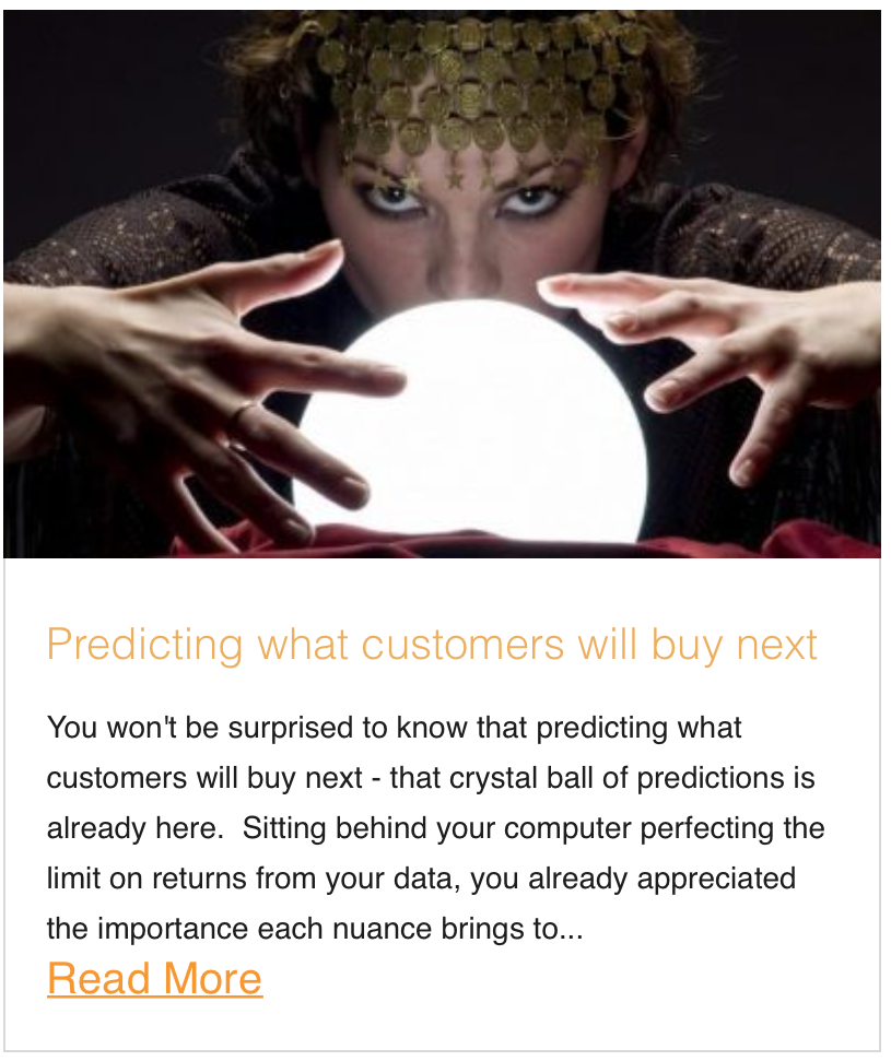 Predicting what customers will buy next