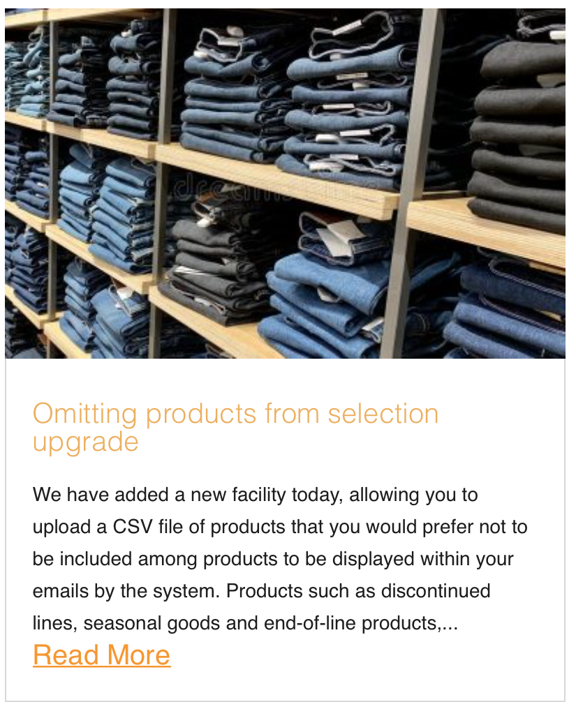 Omitting products from selection upgrade