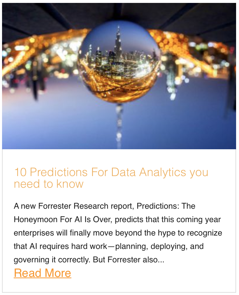 10 Predictions For Data Analytics you need to know