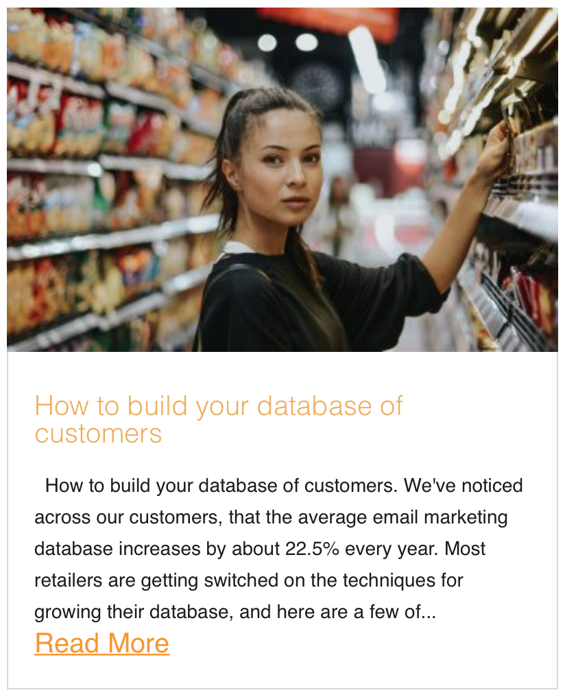 How to build your database of customers