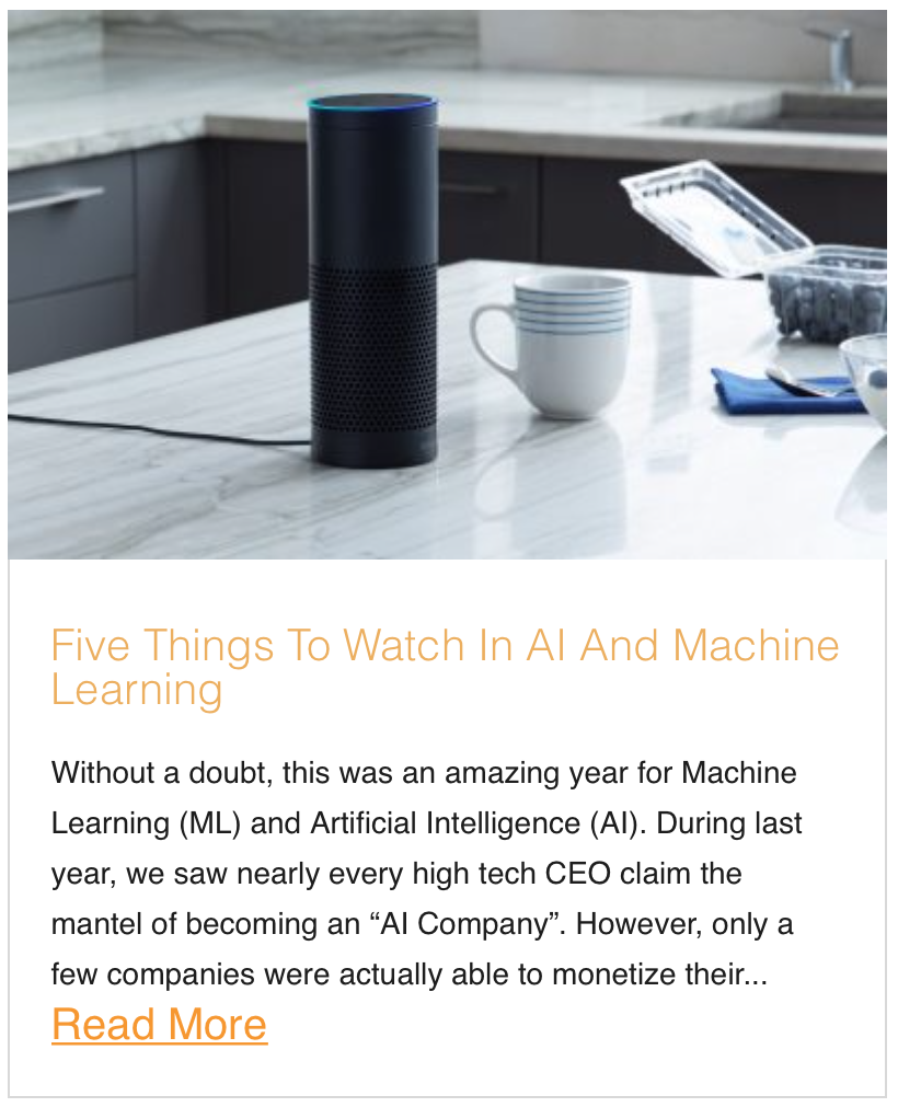 Five Things To Watch In AI And Machine Learning