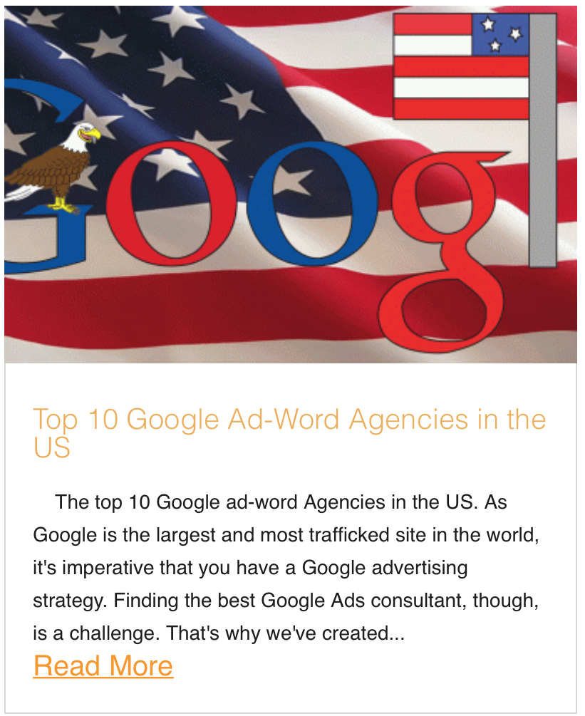 Top 10 Google Ad-Word Agencies in the US