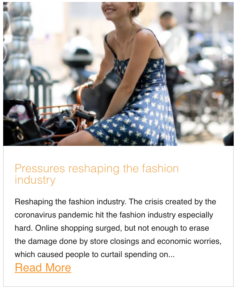 Pressures reshaping the fashion industry