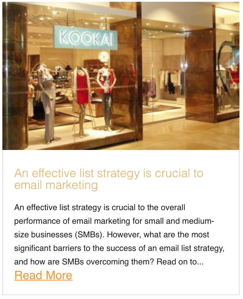 An effective list strategy is crucial to email marketing