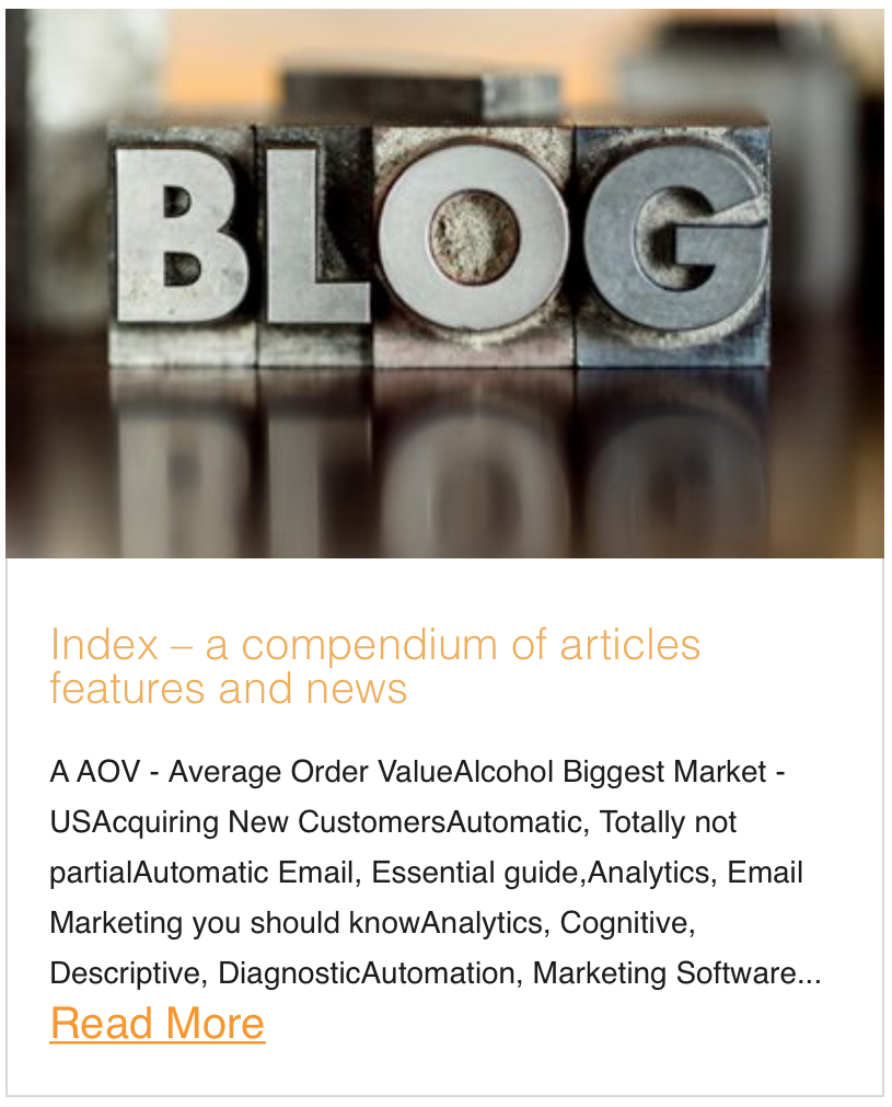 Index - a compendium of articles features and news