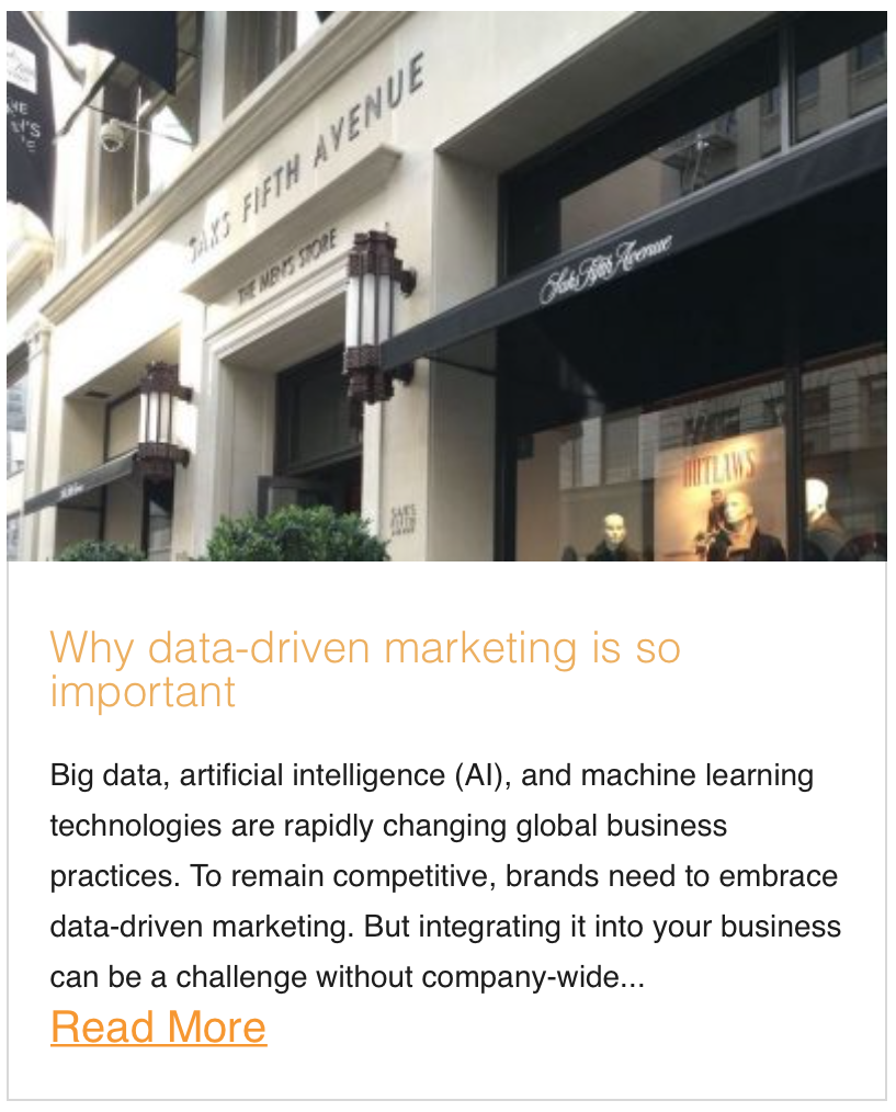 Why data-driven marketing is so important