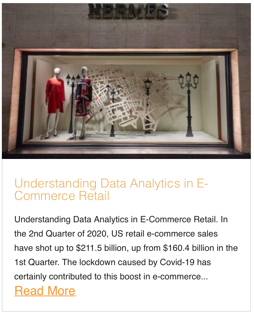 Understanding Data Analytics in E-Commerce Retail