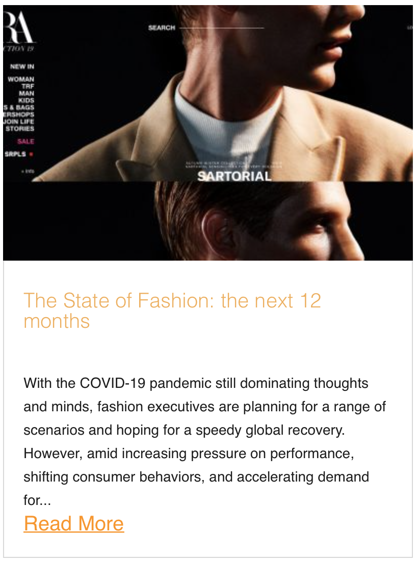 The State of Fashion: the next 12 months