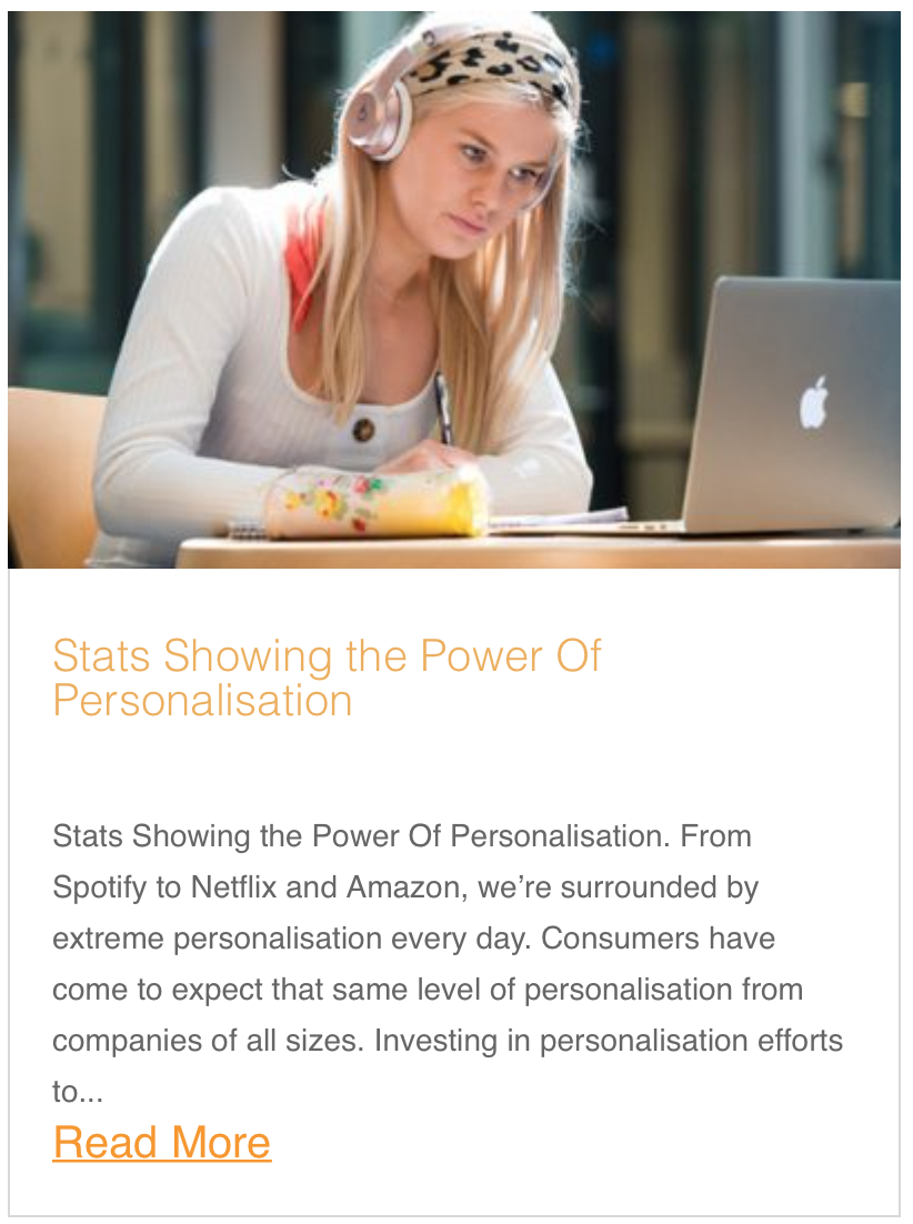 Stats Showing the Power Of Personalisation