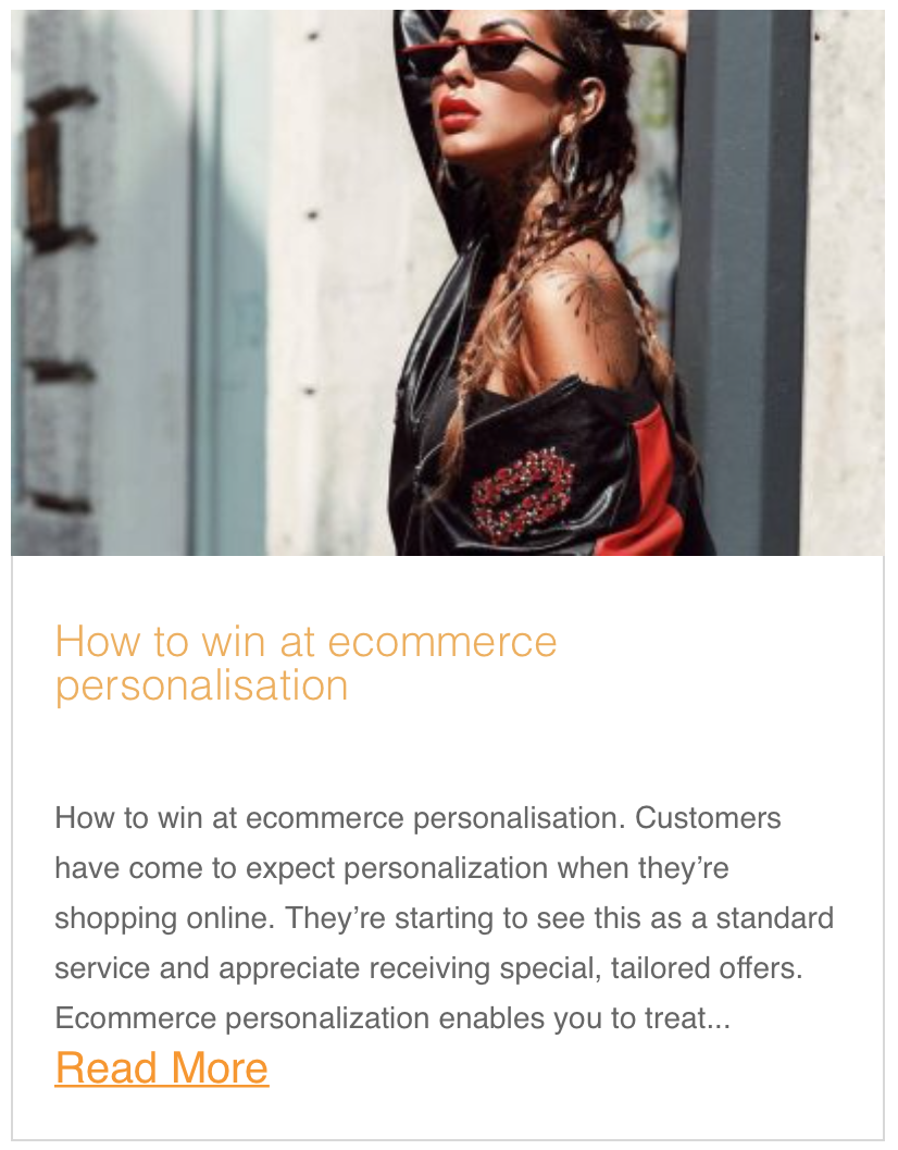 How to win at ecommerce personalisation