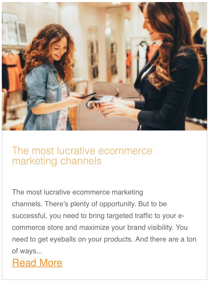 The most lucrative ecommerce marketing channels