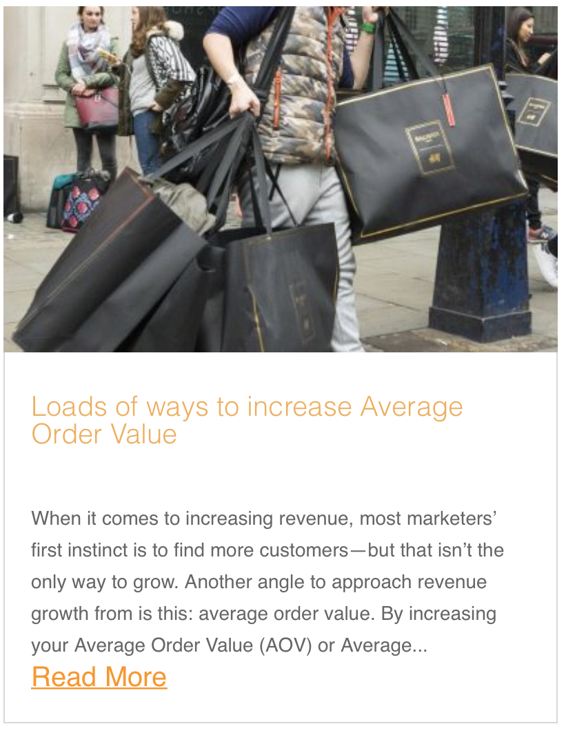 Loads of ways to increase Average Order Value