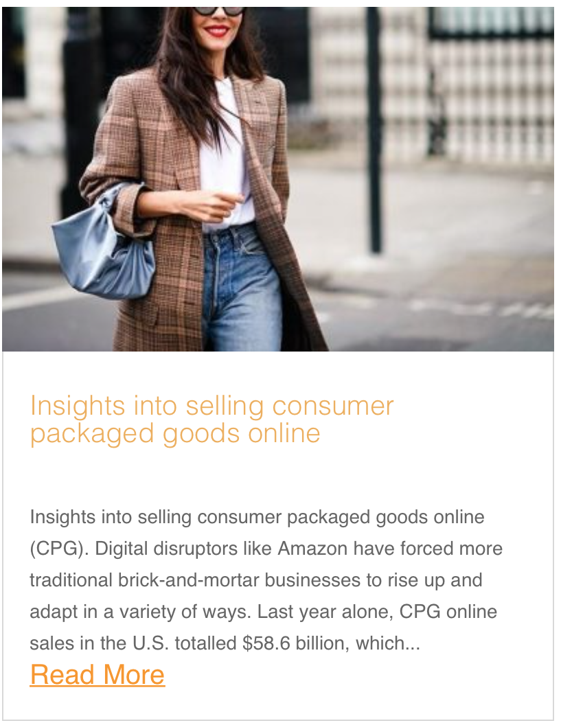 Insights into selling consumer packaged goods online