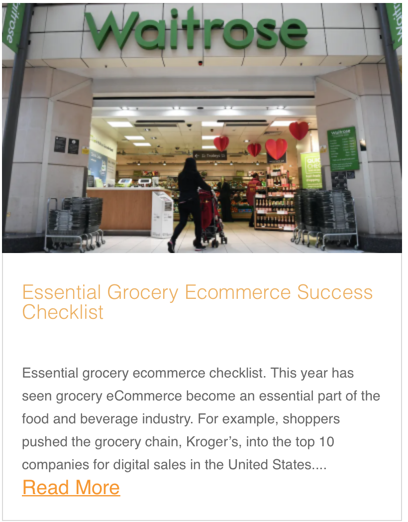 Essential Grocery Ecommerce Success Checklist