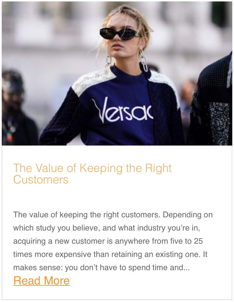 The Value of Keeping the Right Customers