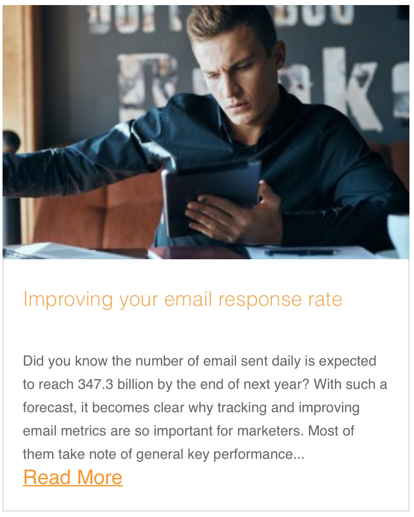 Improving your email response rate
