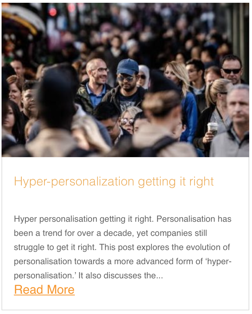 Hyper personalisation getting it right