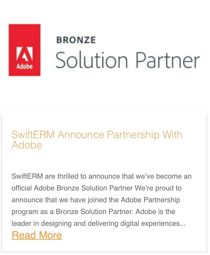 SwiftERM Announce Partnership With Adobe
