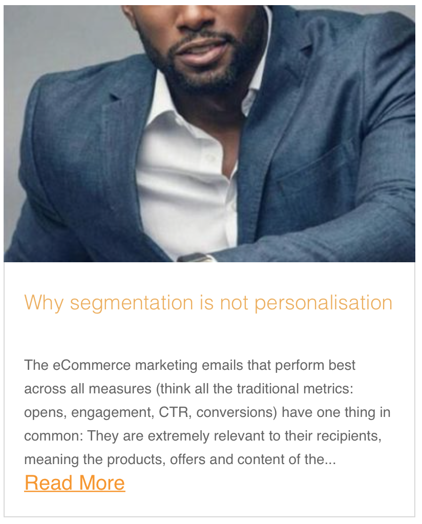 Why segmentation is not personalisation