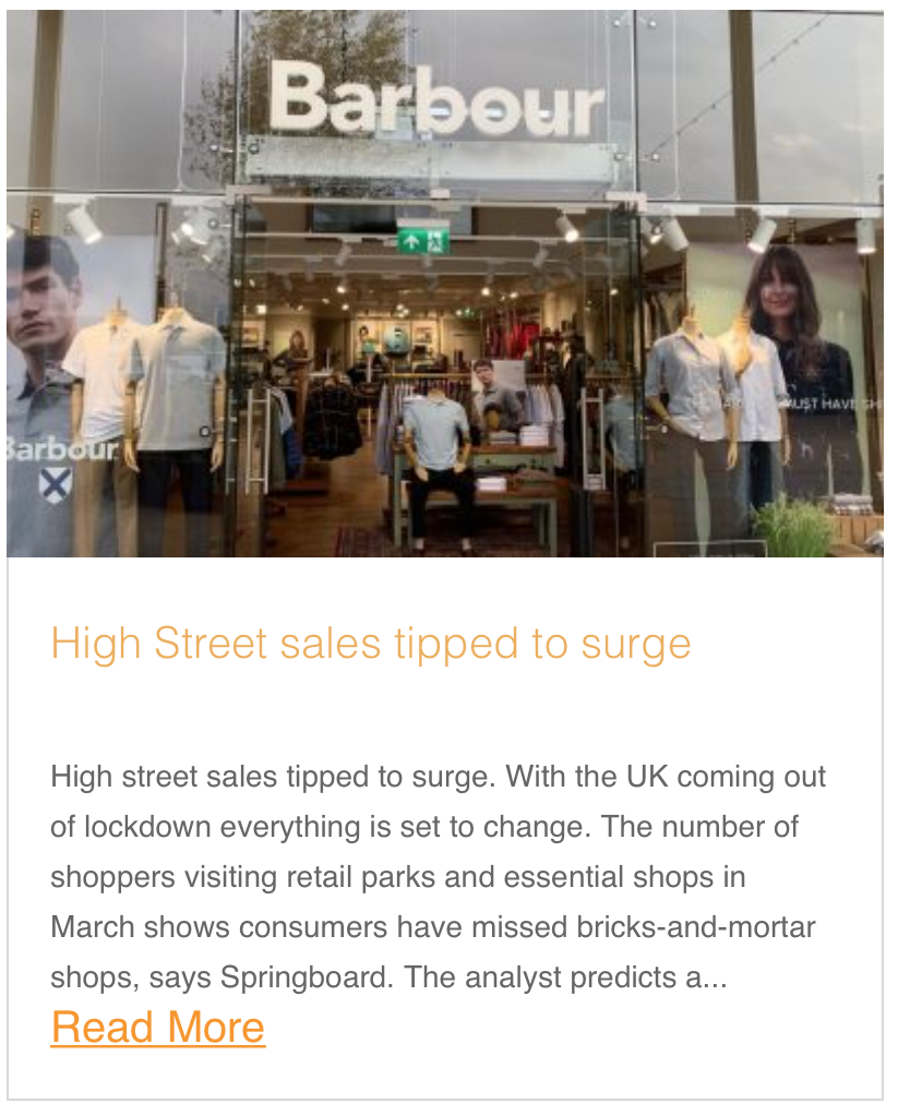 High Street sales tipped to surge