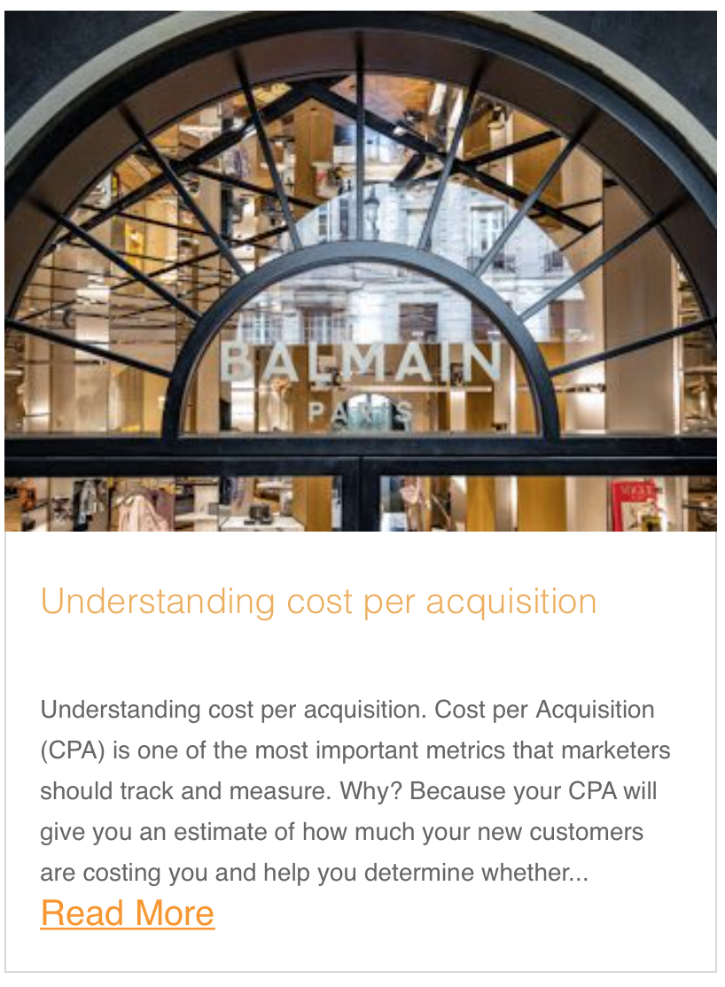 Understanding cost per acquisition