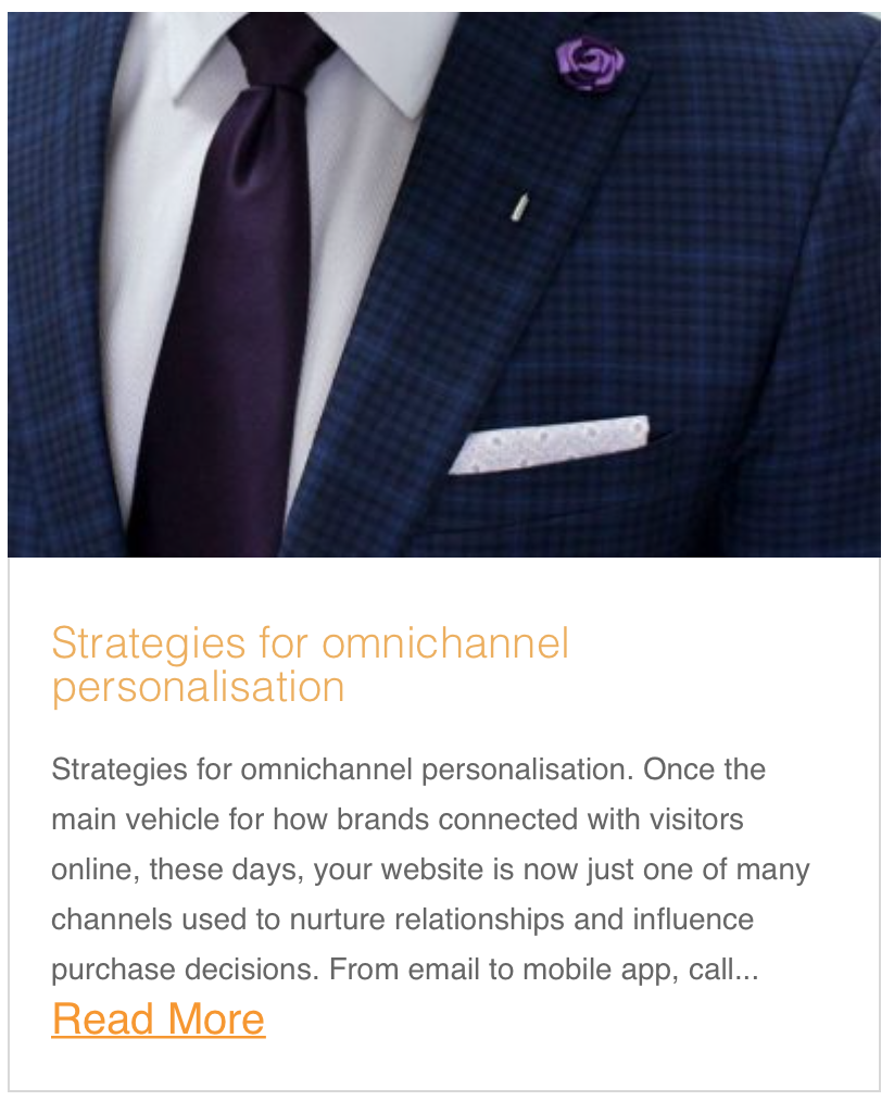 Strategies for omnichannel personalisation