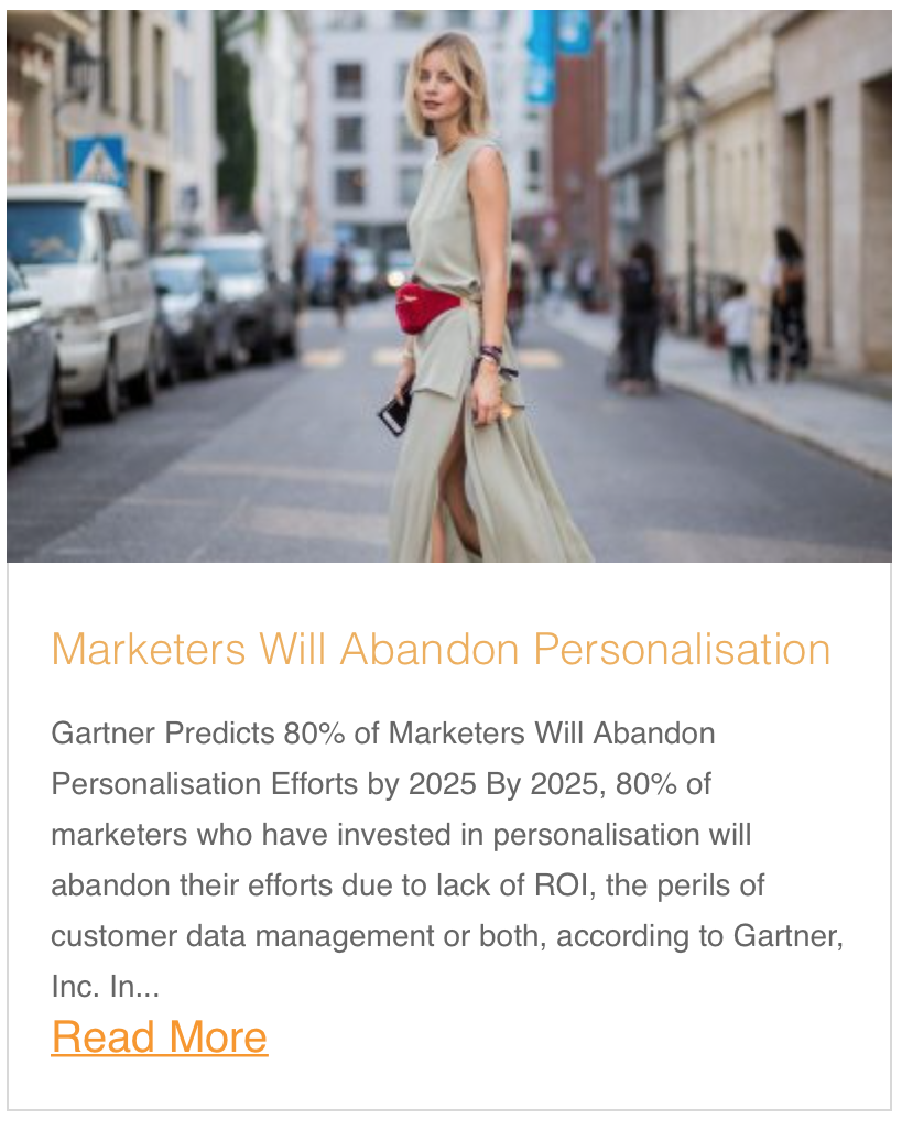 Marketers Will Abandon Personalisation