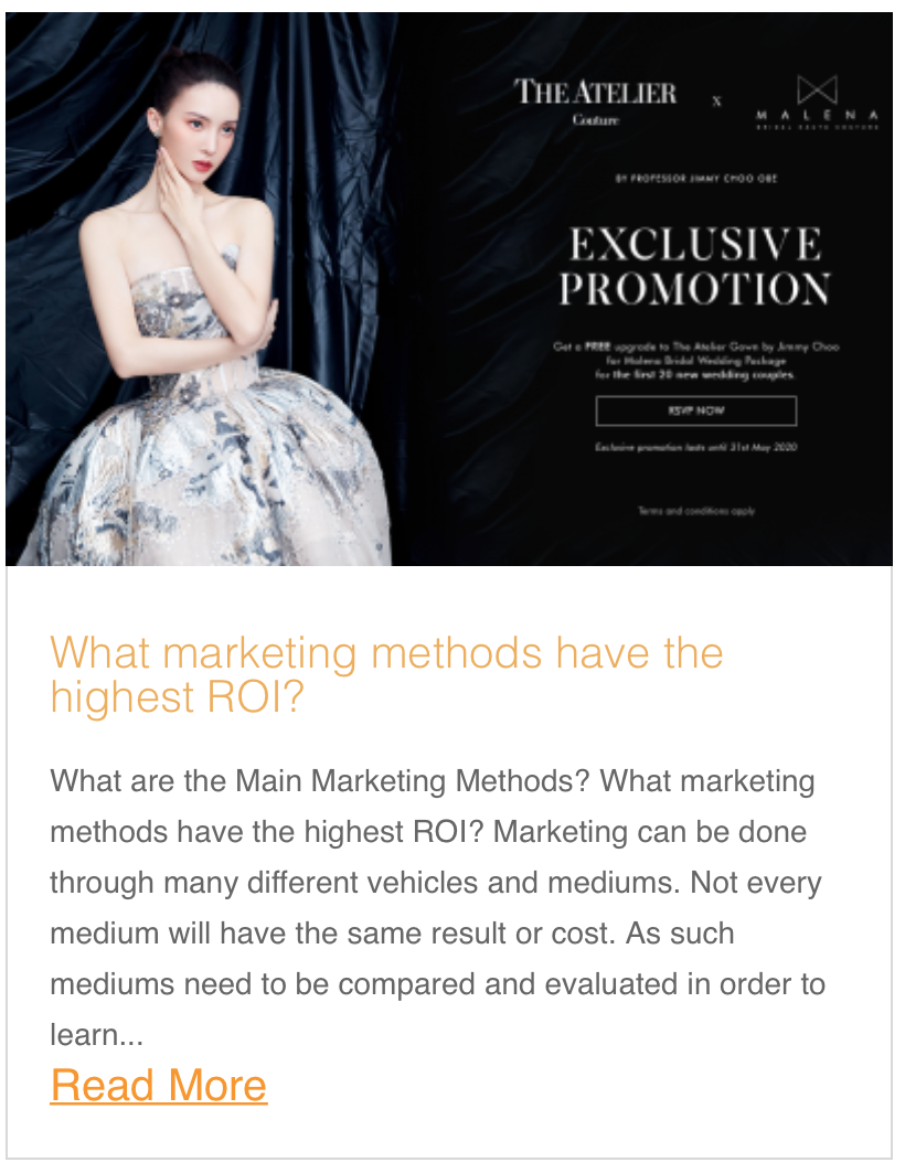 What marketing methods have the highest ROI