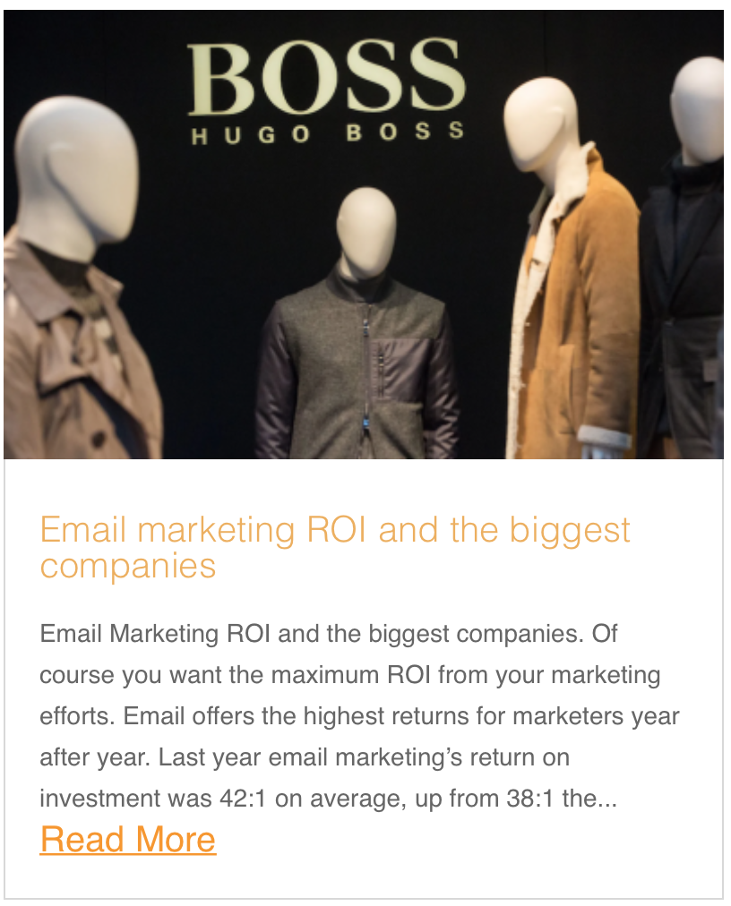 Email marketing ROI and the biggest companies