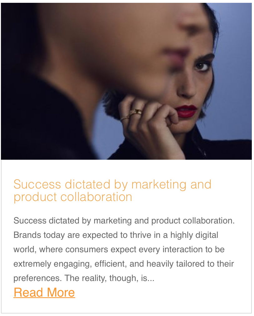 Success dictated by marketing and product collaboration