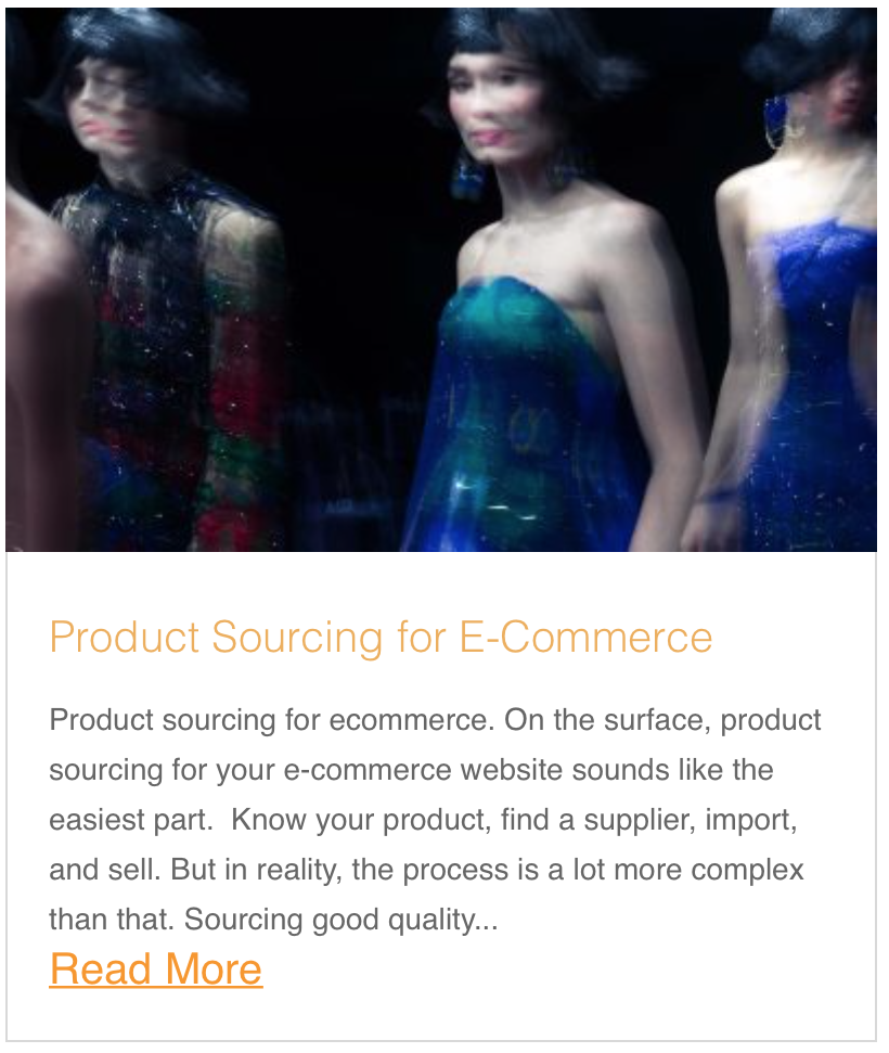 Product Sourcing for E-Commerce