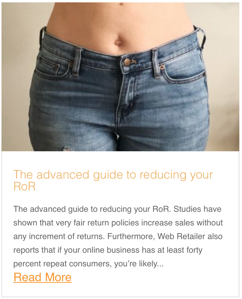 The advanced guide to reducing your RoR
