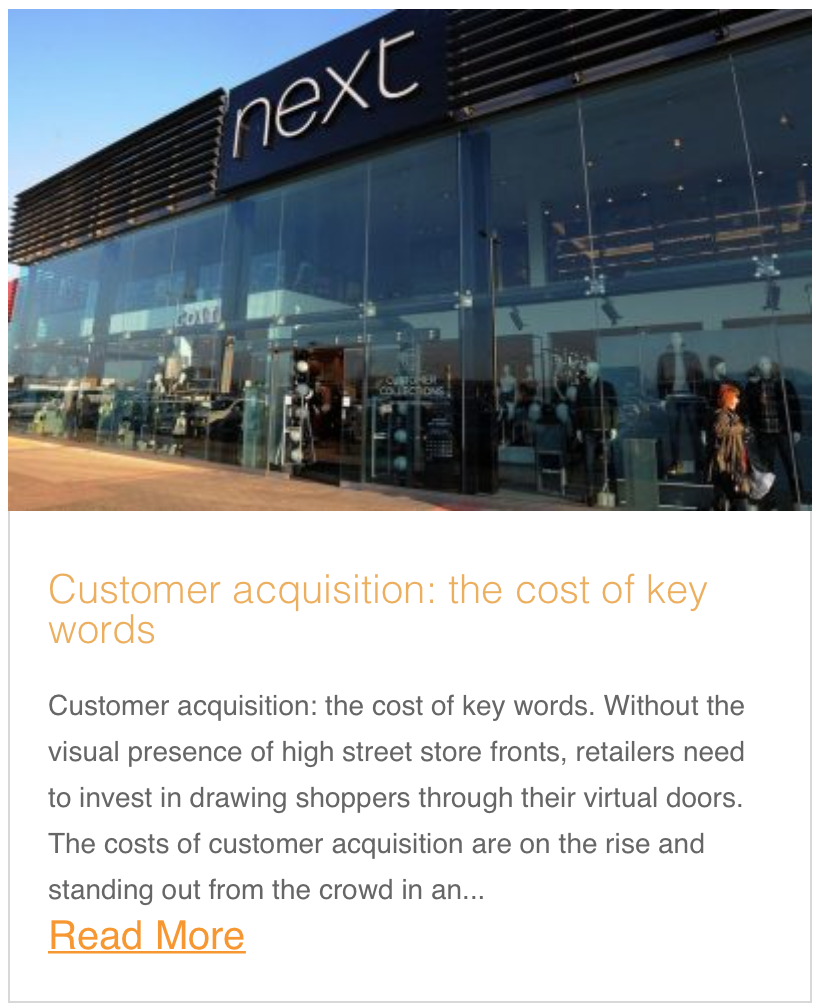 Customer acquisition: the cost of key words
