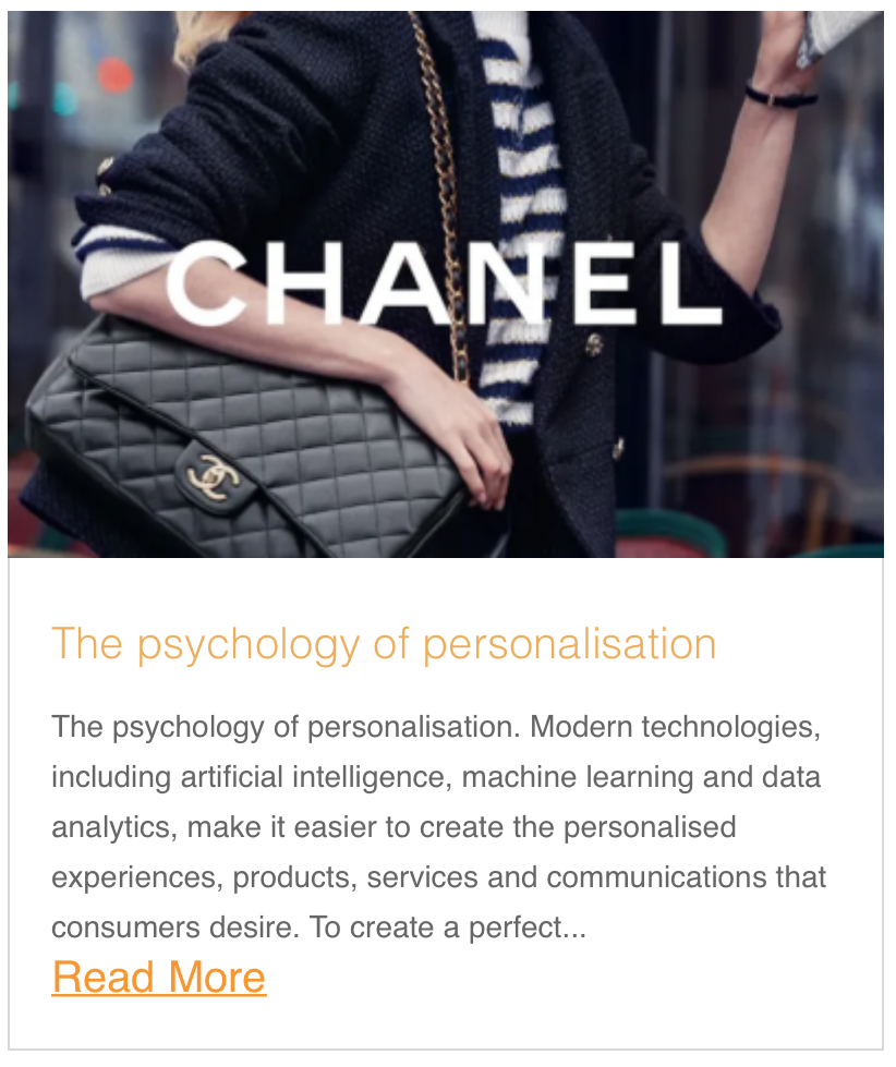The psychology of personalisation