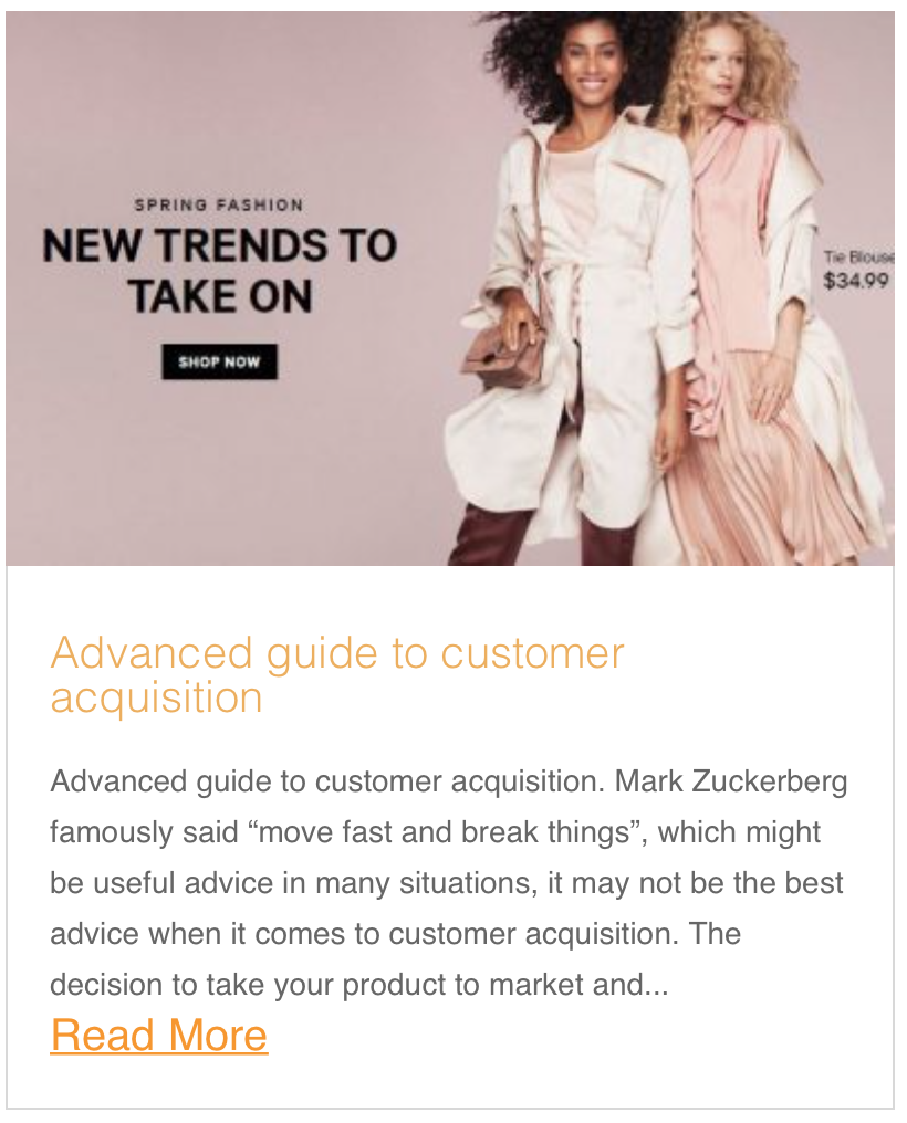 Advanced guide to customer acquisition