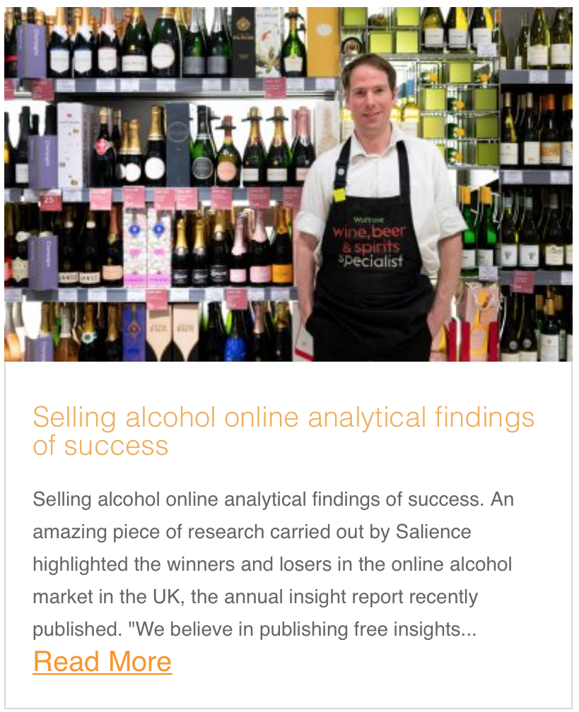 Selling alcohol online analytical findings