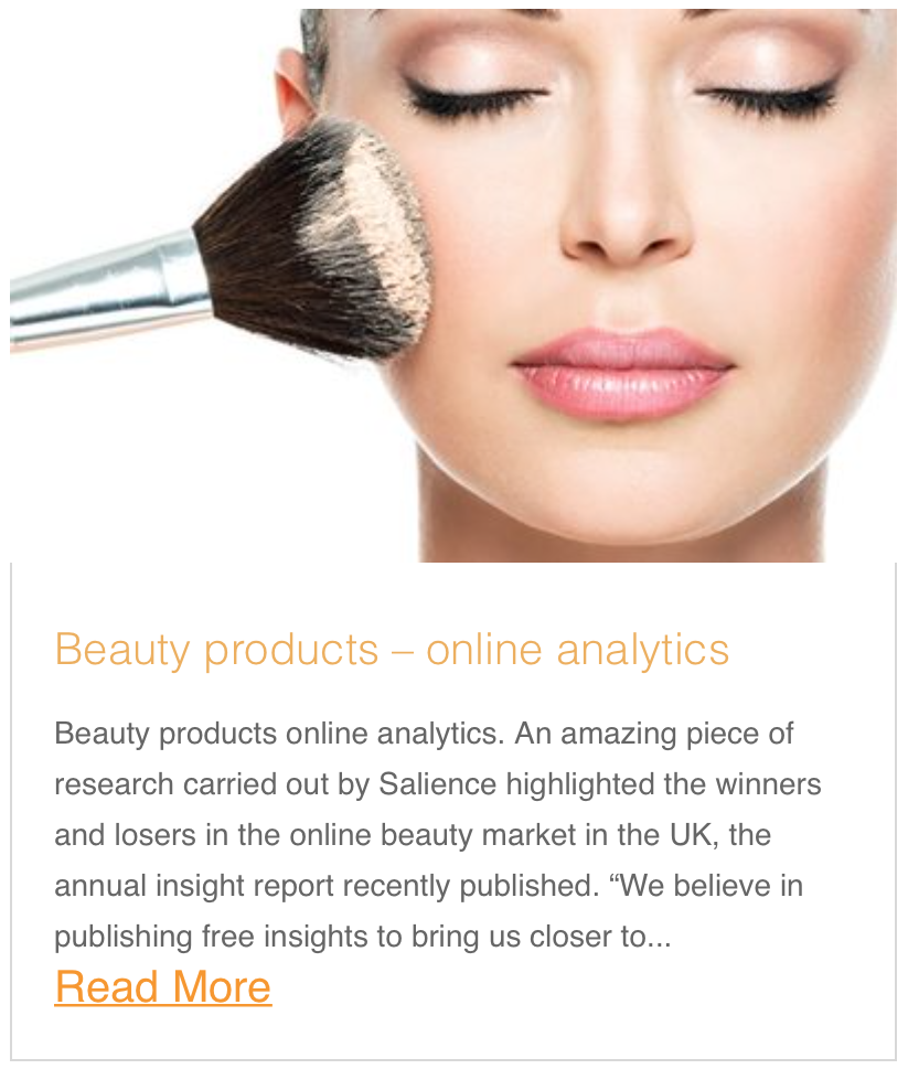Beauty products online analytics